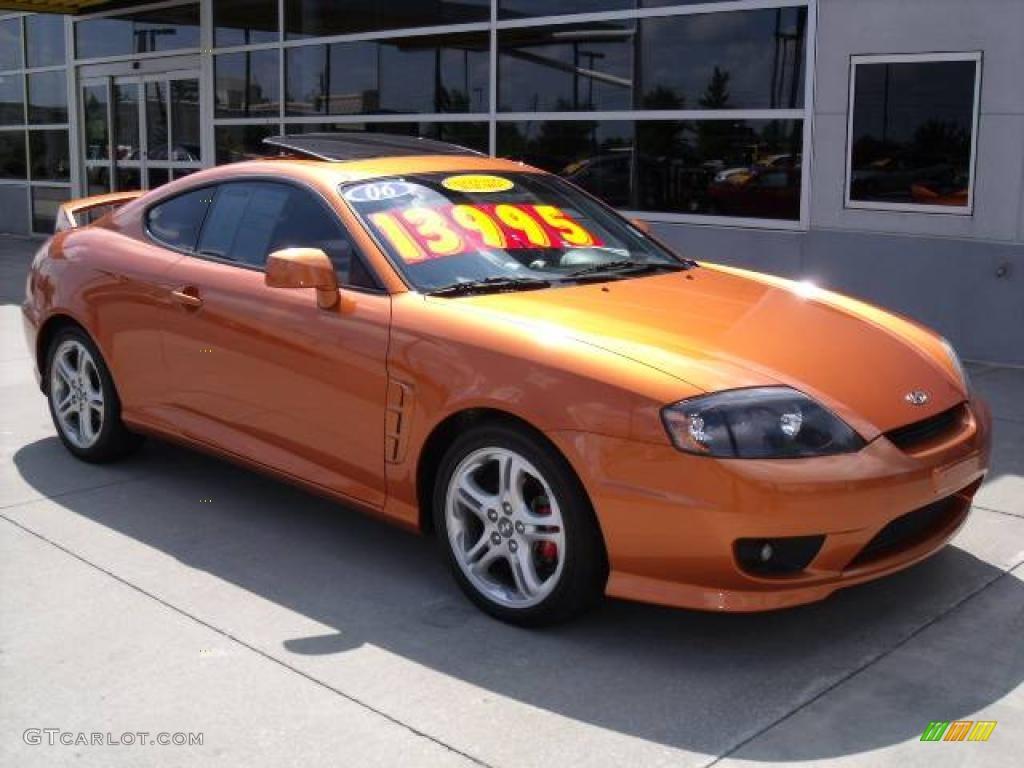 2006 Orange Crush Hyundai Tiburon SE #11327267 Photo #2 | GTCarLot ...