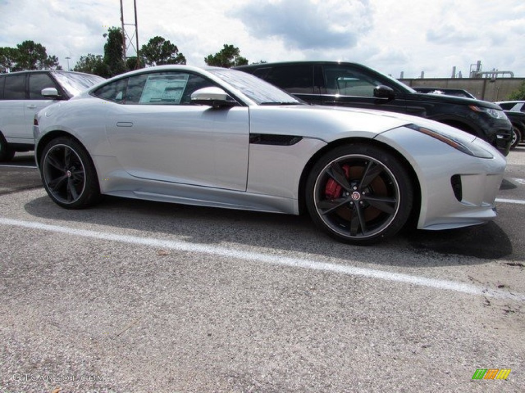 2017 F Type R Awd Coupe Rhodium Silver Jet Red Duotone Photo
