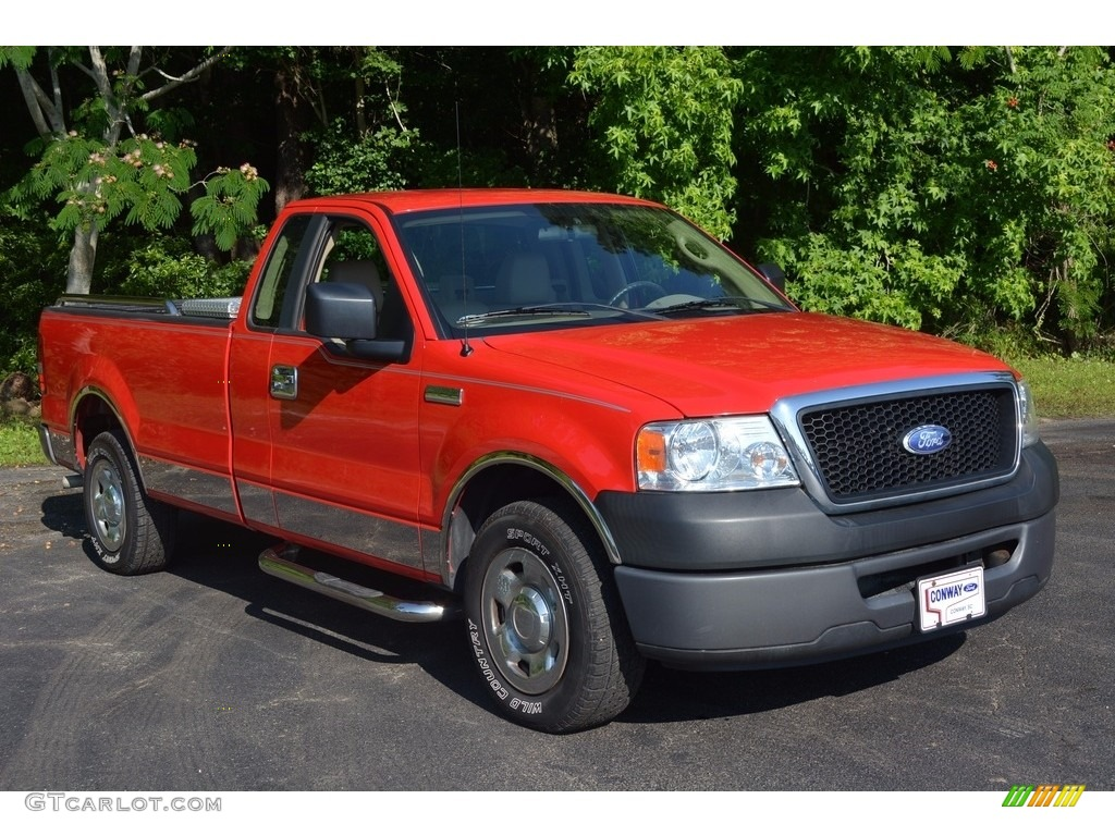 2008 bright red ford f150 xl regular cab 113420318 car color galleries. Black Bedroom Furniture Sets. Home Design Ideas