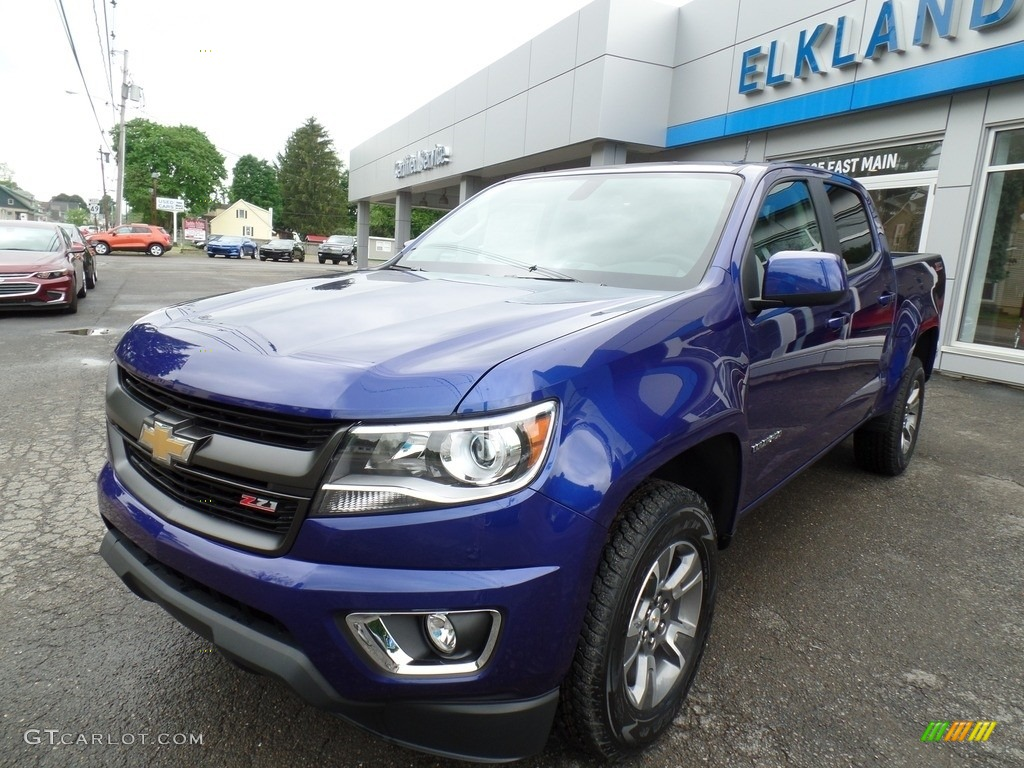 2016 laser blue chevrolet colorado z71 crew cab 4x4. Black Bedroom Furniture Sets. Home Design Ideas
