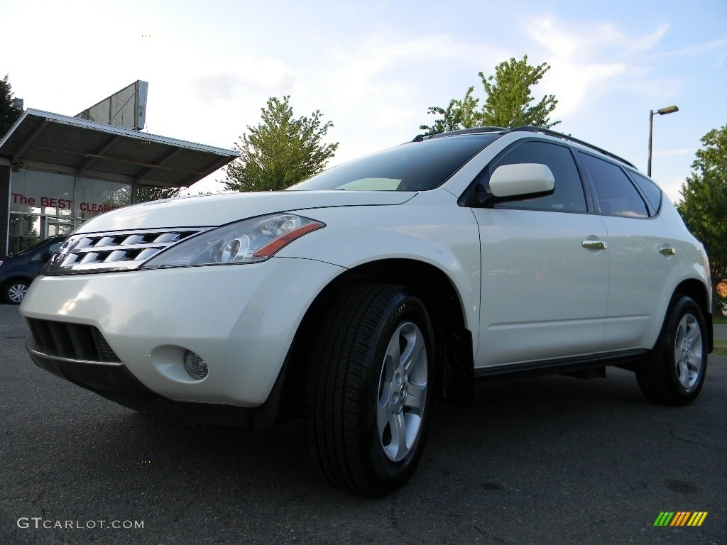 2005 Murano SL AWD - Glacier Pearl White / Cafe Latte photo #6