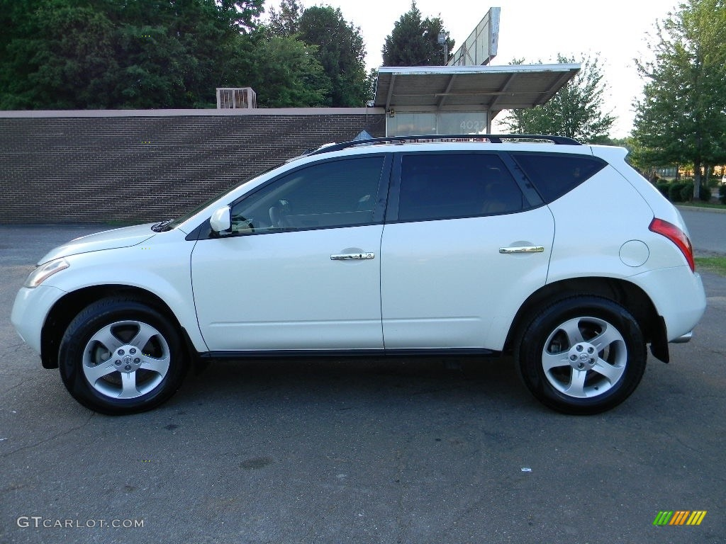 2005 Murano SL AWD - Glacier Pearl White / Cafe Latte photo #7