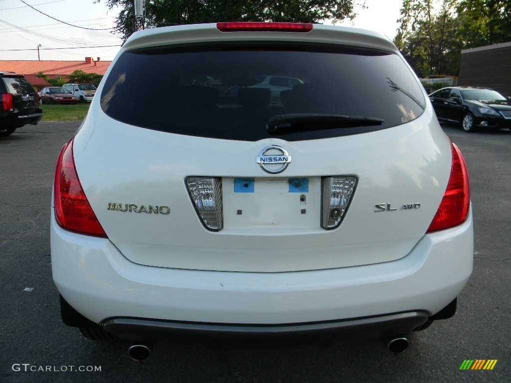2005 Murano SL AWD - Glacier Pearl White / Cafe Latte photo #9