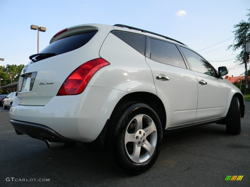 2005 Murano SL AWD - Glacier Pearl White / Cafe Latte photo #10