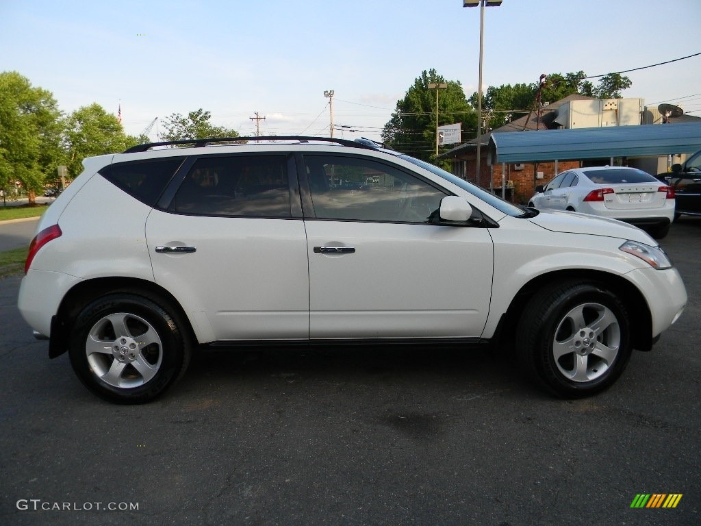 2005 Murano SL AWD - Glacier Pearl White / Cafe Latte photo #11