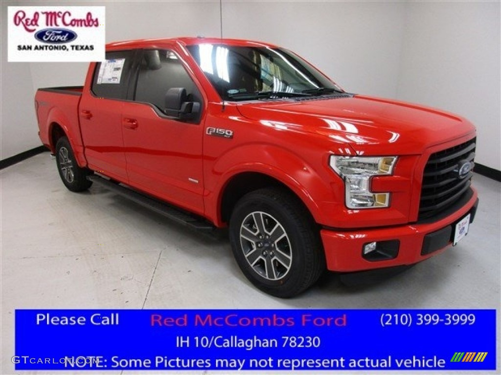 2016 F150 XLT SuperCrew - Race Red / Black photo #1