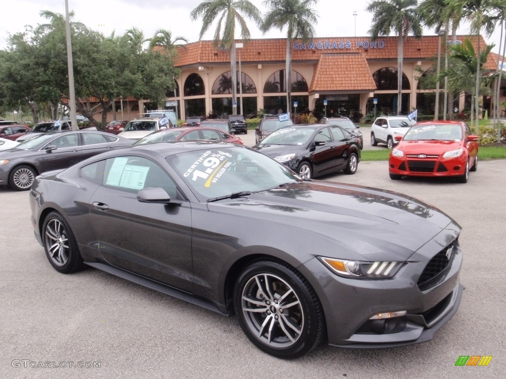 2016 magnetic metallic ford mustang ecoboost premium coupe