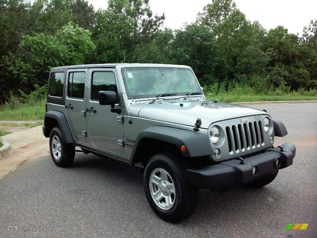 2016 Wrangler Unlimited Sport 4x4 RHD - Billet Silver Metallic / Black photo #4