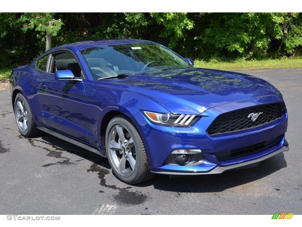 2016 Mustang V6 Coupe - Deep Impact Blue Metallic / Ebony photo #1