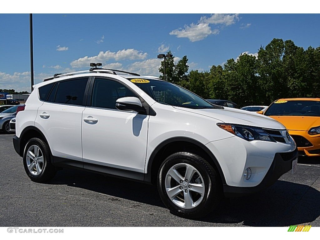 2013 super white toyota rav4 xle awd 113563563 photo 6 car color galleries. Black Bedroom Furniture Sets. Home Design Ideas