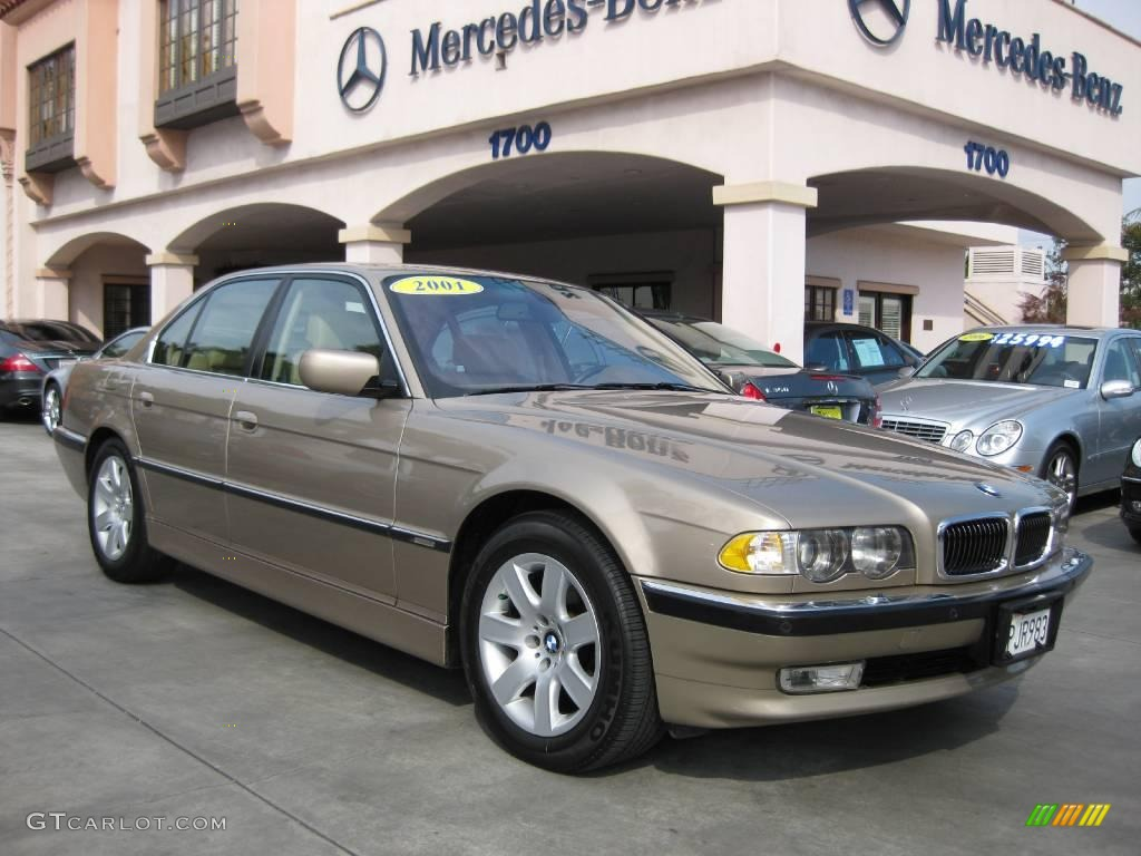 2001 Sahara Beige Metallic Bmw 7 Series 740i Sedan