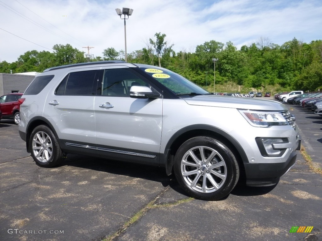 2016 Explorer Limited 4WD - Ingot Silver Metallic / Ebony Black photo #1