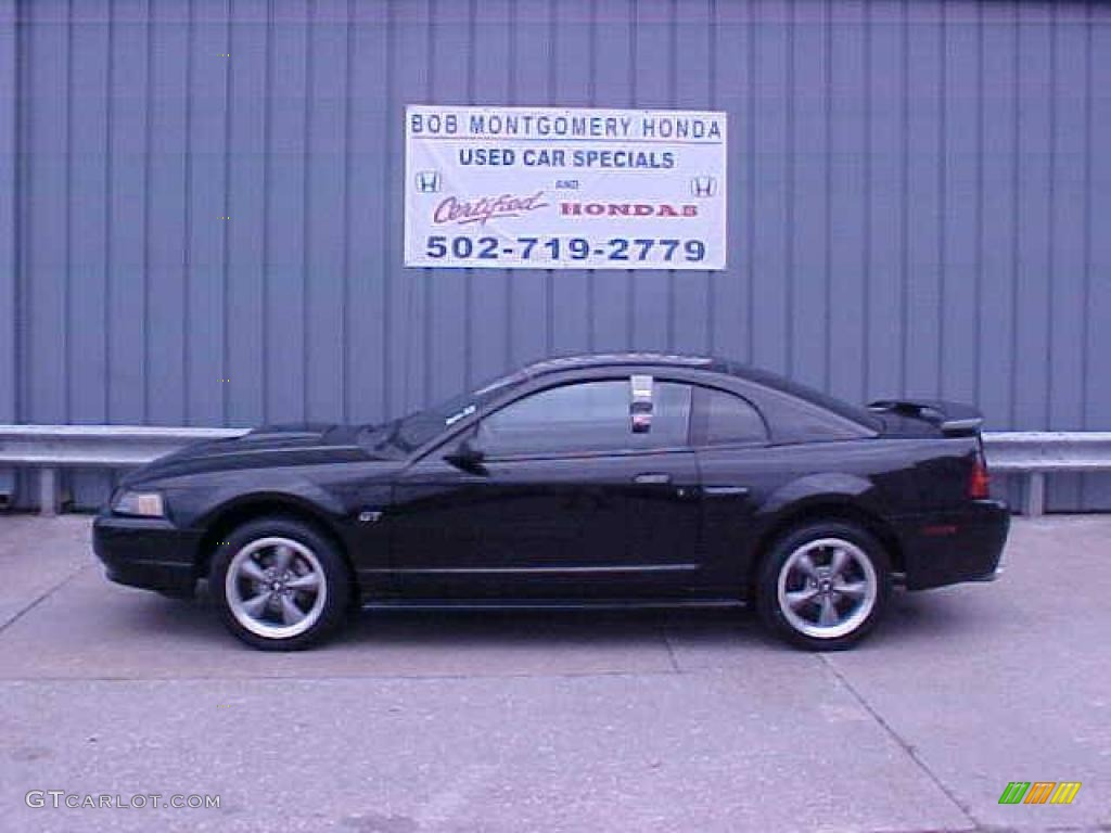 2001 Mustang GT Coupe - Black / Dark Charcoal photo #1