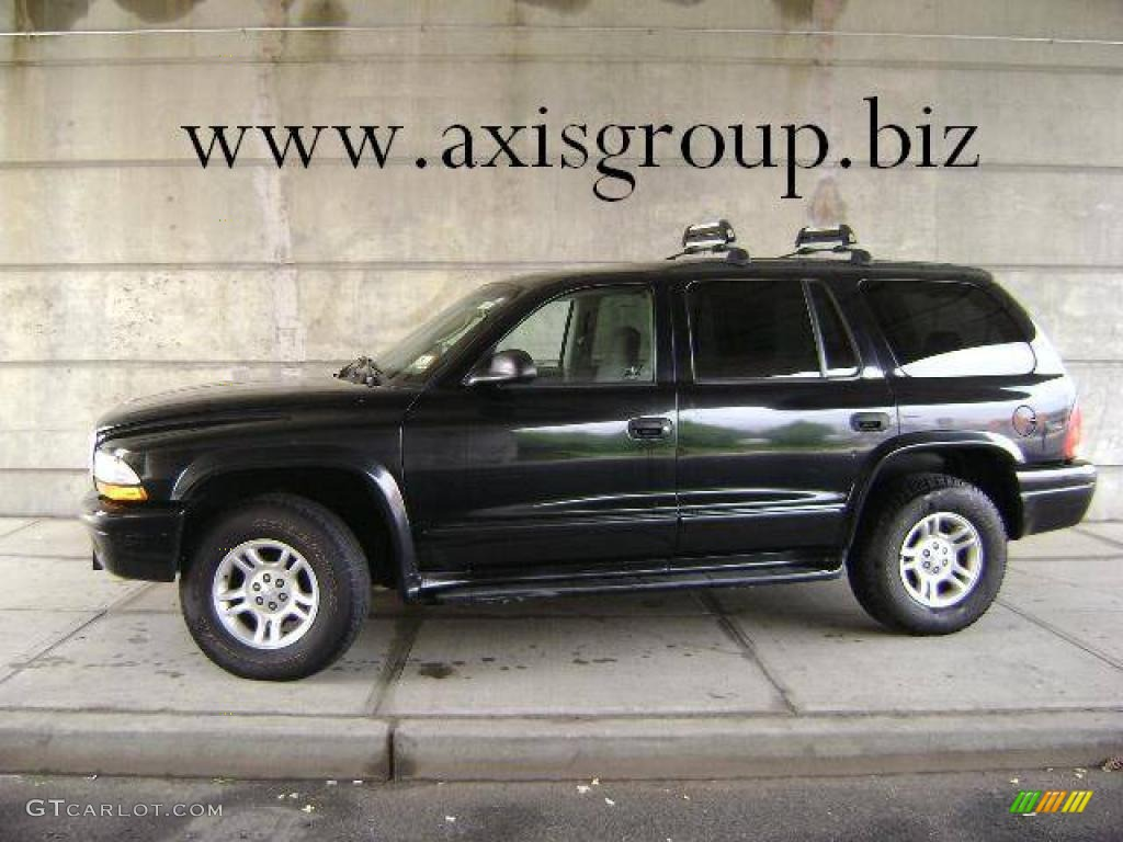 2002 Durango SLT 4x4 - Black / Dark Slate Gray photo #1