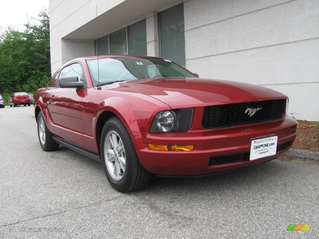 2005 redfire metallic ford mustang v6 deluxe coupe 11353206