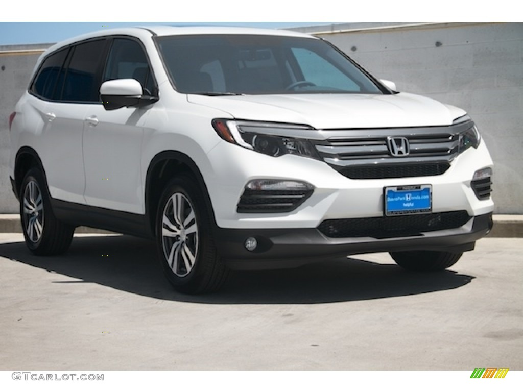2016 white diamond pearl honda pilot ex l awd 113768659. Black Bedroom Furniture Sets. Home Design Ideas