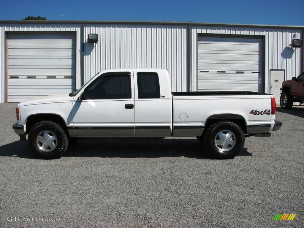 1998 sierra 1500 sl extended cab 4x4 olympic white pewter photo 3