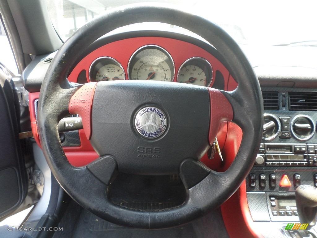 1998 SLK 230 Kompressor Roadster - Brilliant Silver Metallic / Salsa Red photo #10