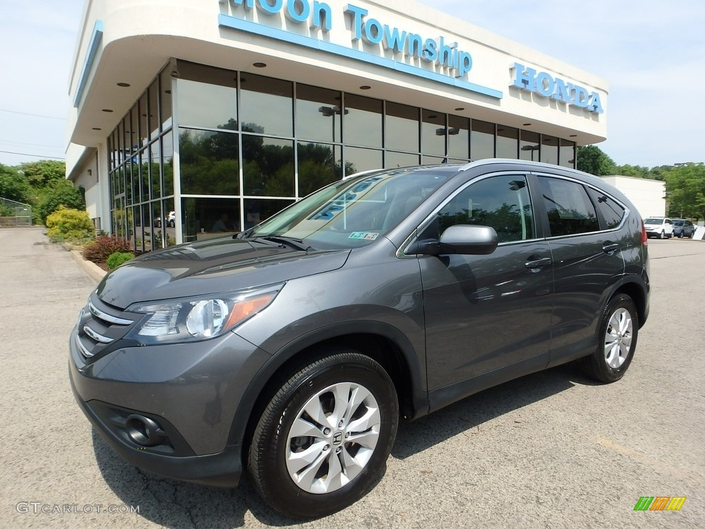 2014 CR-V EX-L AWD - Polished Metal Metallic / Gray photo #1