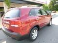 2011 Spicy Red Kia Sorento LX  photo #2
