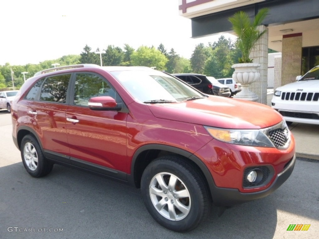 2011 Sorento LX - Spicy Red / Beige photo #7
