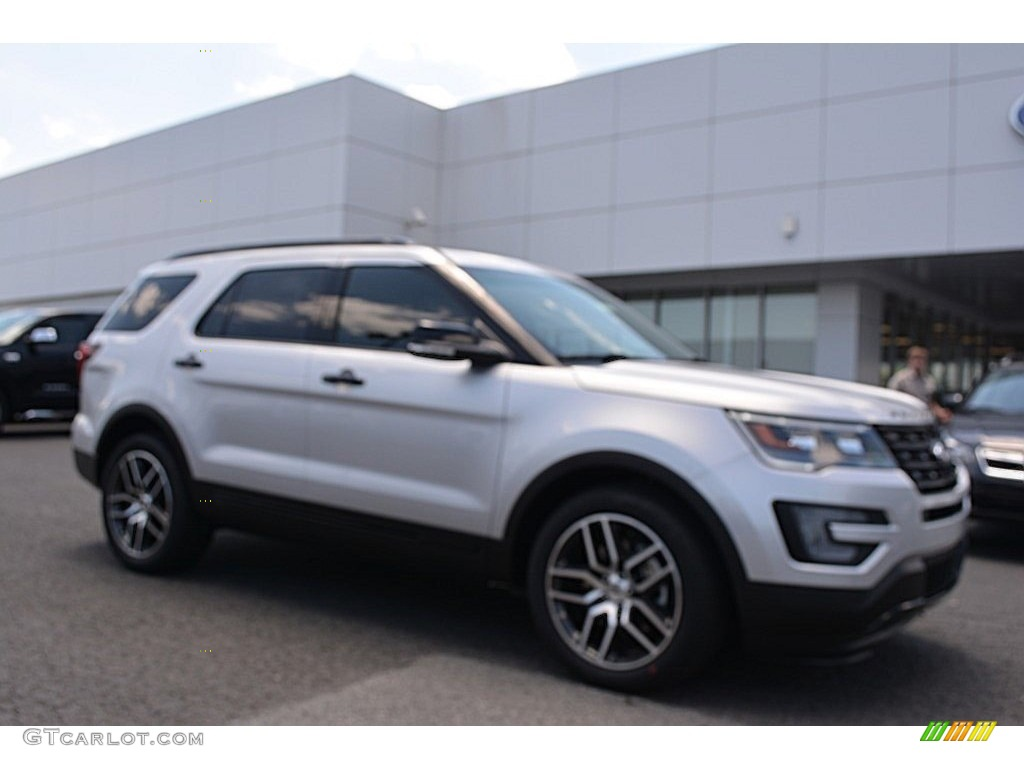 2016 Explorer Sport 4WD - Ingot Silver Metallic / Ebony Black photo #1