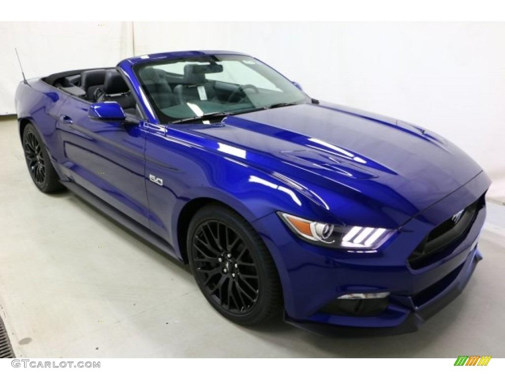 2016 Mustang GT Premium Convertible - Deep Impact Blue Metallic / Ebony photo #3