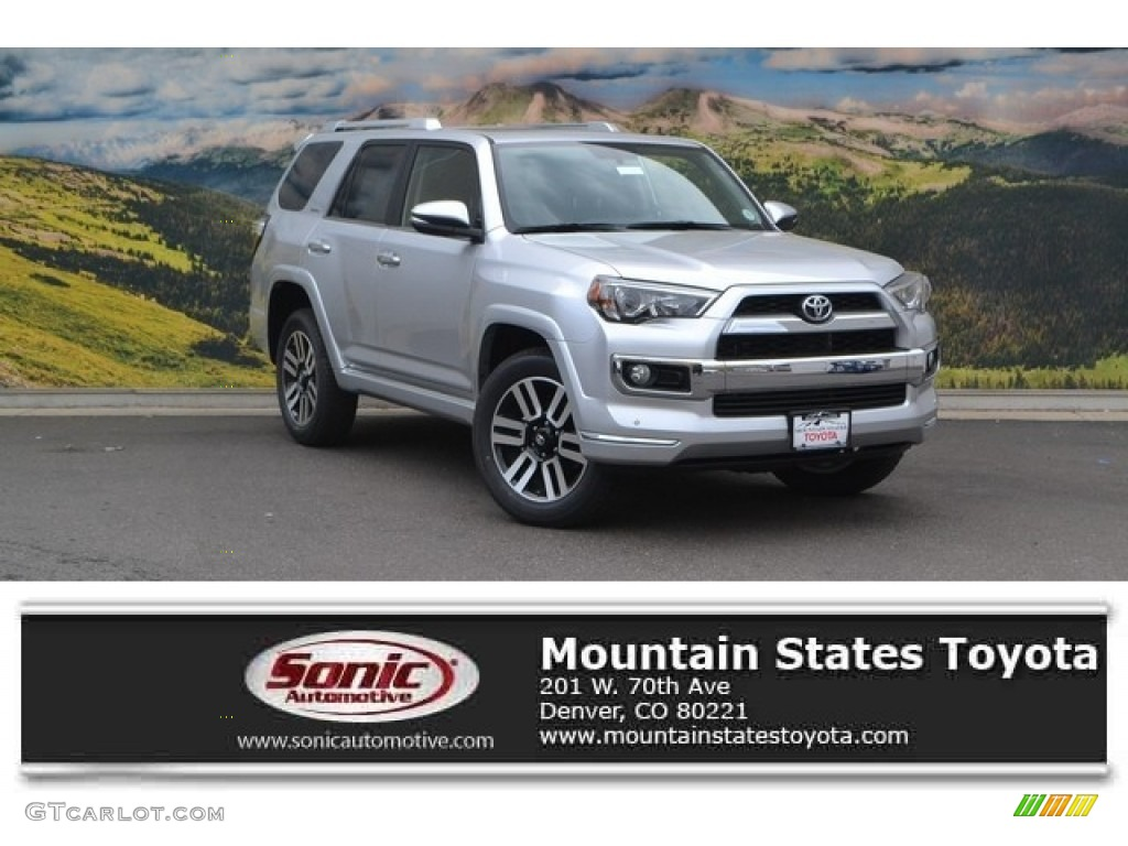 2016 Classic Silver Metallic Toyota 4runner Limited 4x4 113847218 Car Color