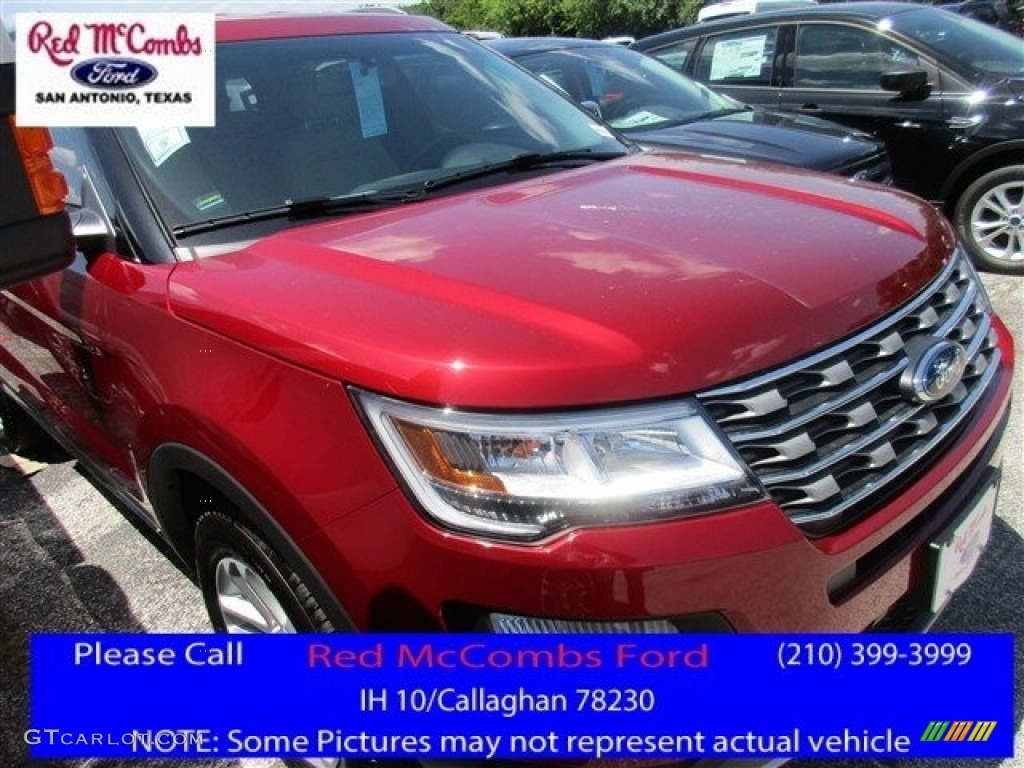 2016 Explorer XLT - Ruby Red Metallic Tri-Coat / Medium Light Camel photo #1