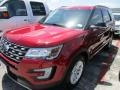 2016 Ruby Red Metallic Tri-Coat Ford Explorer XLT  photo #2