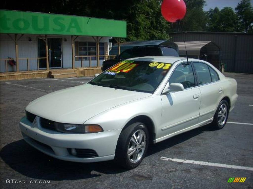 2003 Galant ES   Dover White Pearl / Tan Photo #1