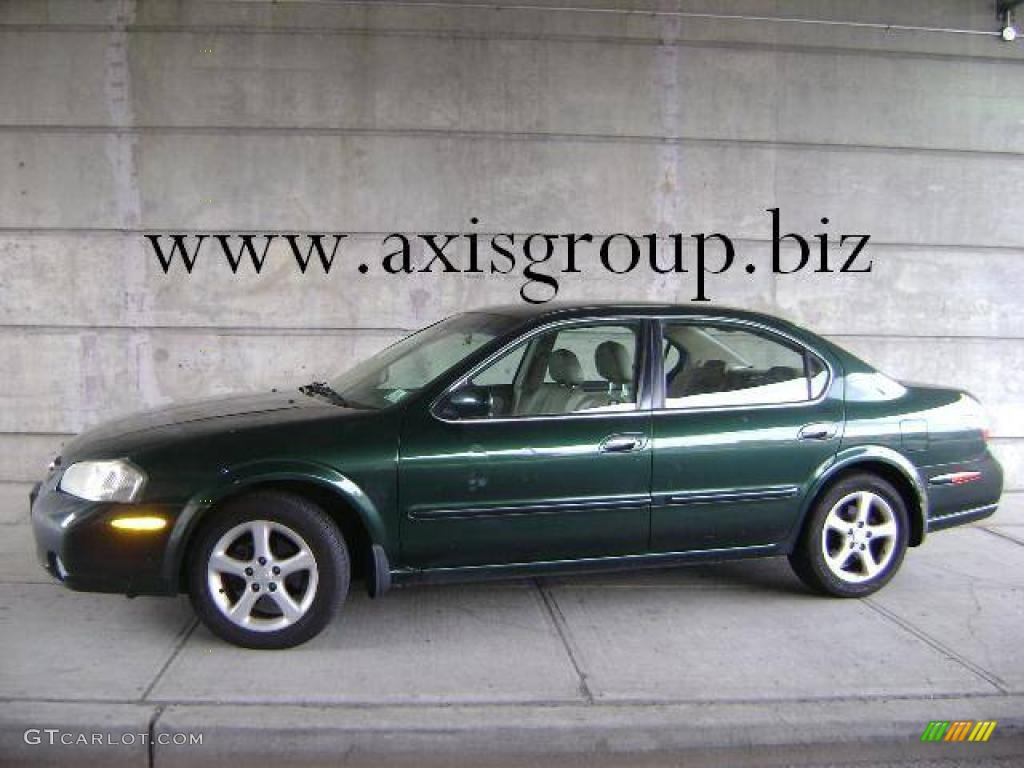 2000 sherwood green metallic nissan maxima gle #11353237