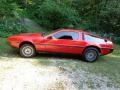 Red 1981 Delorean DMC-12