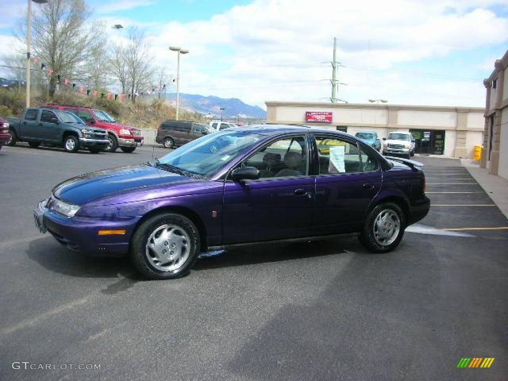 1996 Purple Saturn S Series SL2 Sedan #11349353 Photo #3 ...