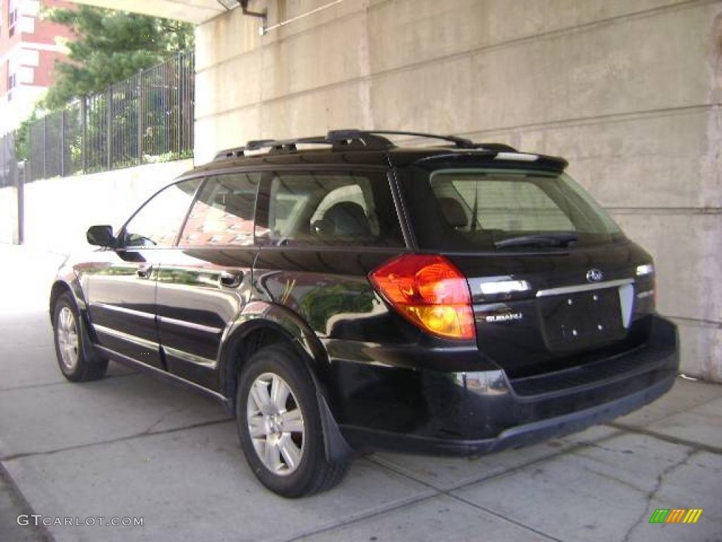 2005 obsidian black pearl subaru outback 2.5i limited wagon