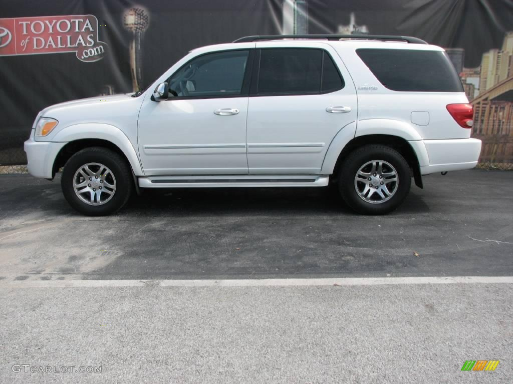 Super white toyota sequoia