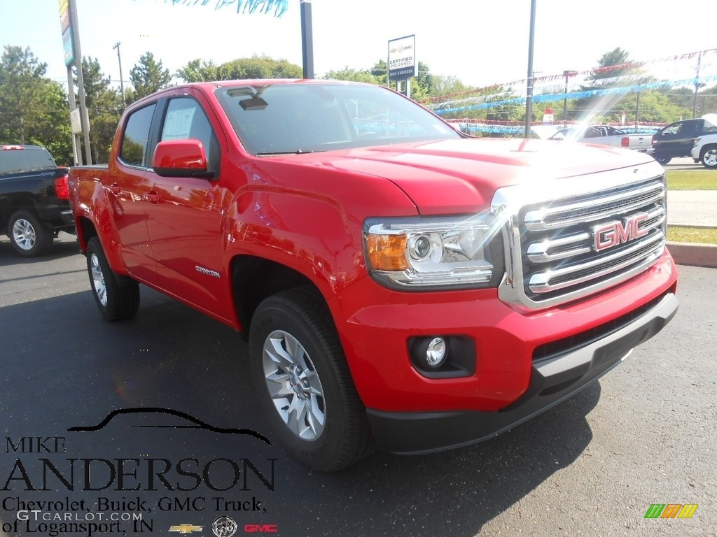 Co color cardinal red - 2016 Canyon Sle Crew Cab 4x4 Cardinal Red Jet Black Photo 1