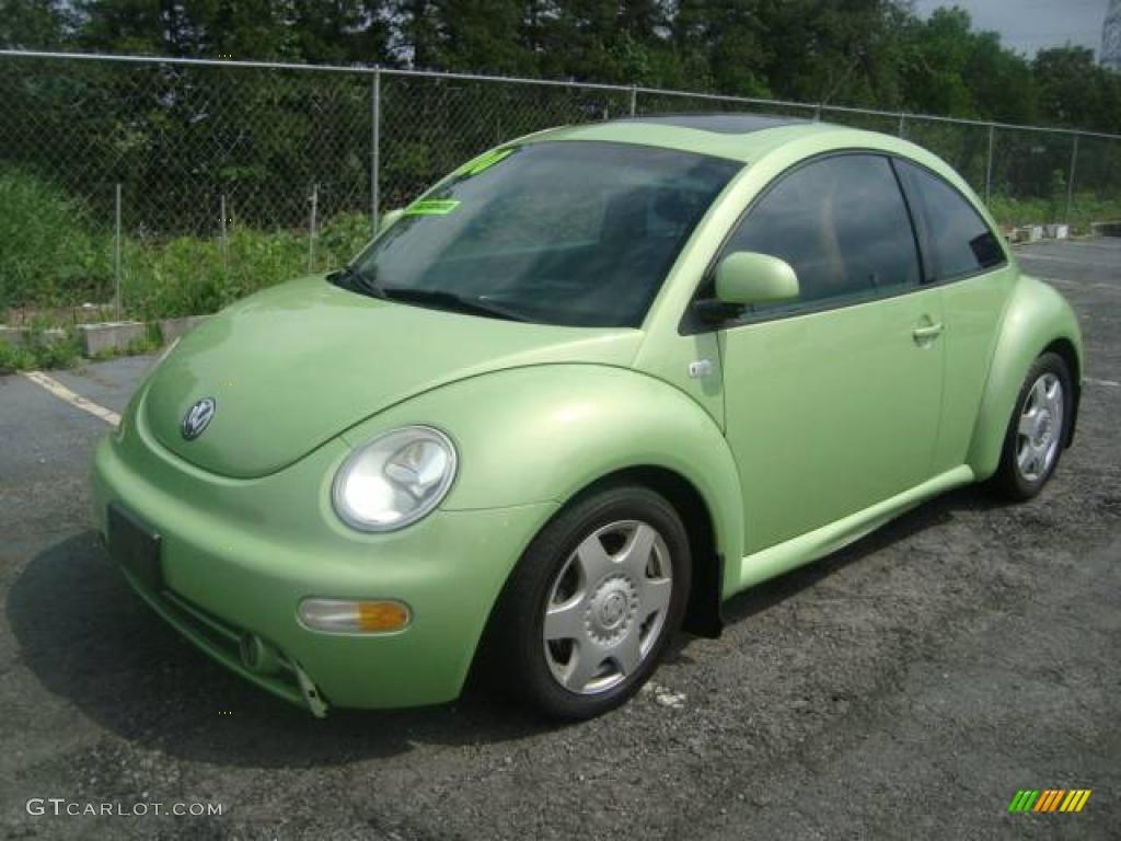 2000 Green Volkswagen New Beetle Gls 1 8t Coupe 11355681