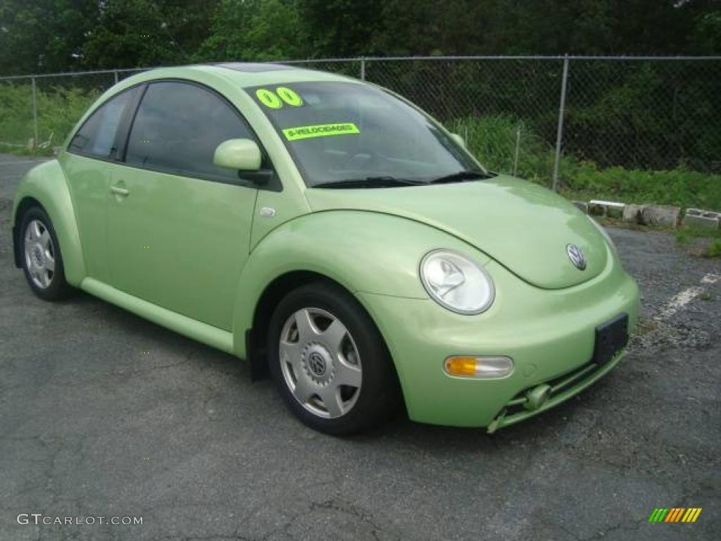 2000 green volkswagen new beetle gls 1 8t coupe 11355681 photo 3 car color. Black Bedroom Furniture Sets. Home Design Ideas