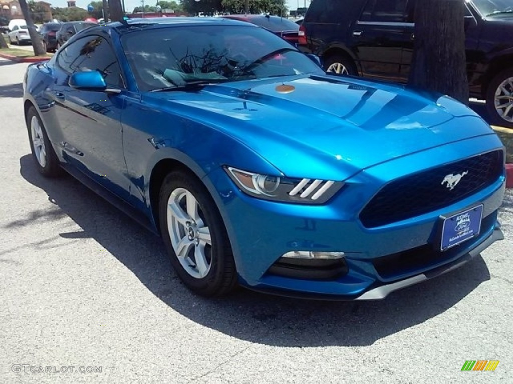 2017 Lightning Blue Ford Mustang V6 Coupe #114016571 Photo #23 ...