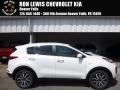Clear White 2017 Kia Sportage EX AWD