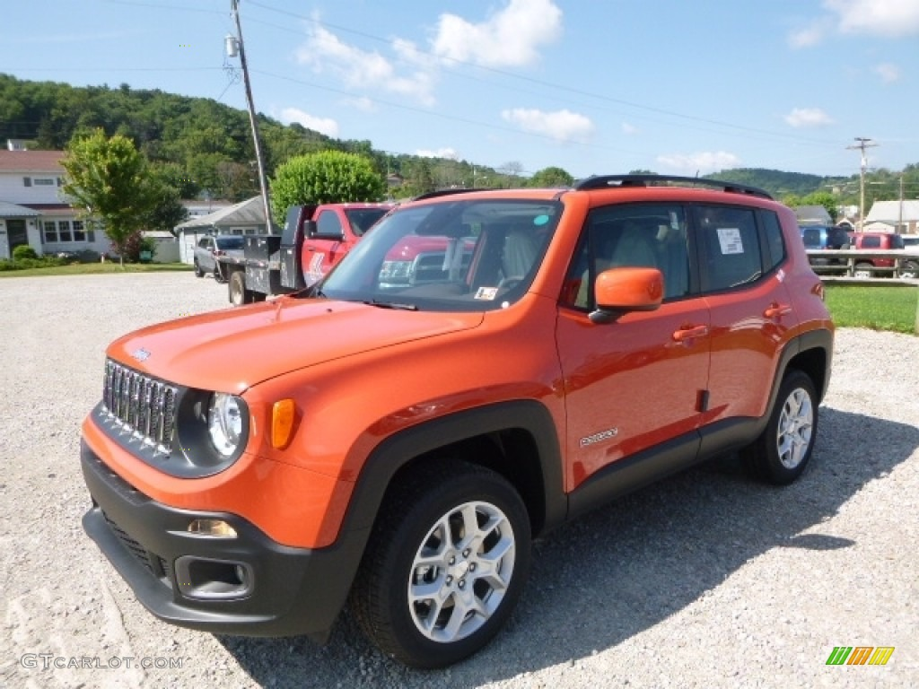 2016 Renegade Latitude 4x4 - Omaha Orange / Bark Brown/Ski Grey photo #1