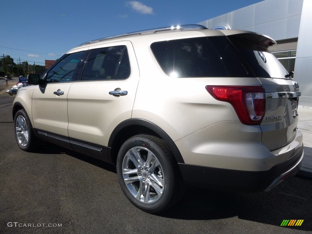 White Gold 2017 Ford Explorer Limited 4WD Exterior Photo #114058244