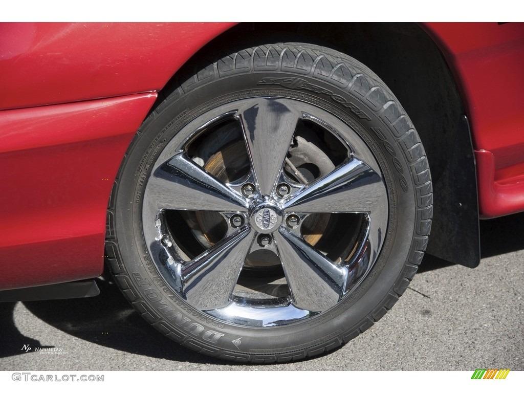 1995 Mustang GT Coupe - Laser Red Metallic / Saddle photo #2