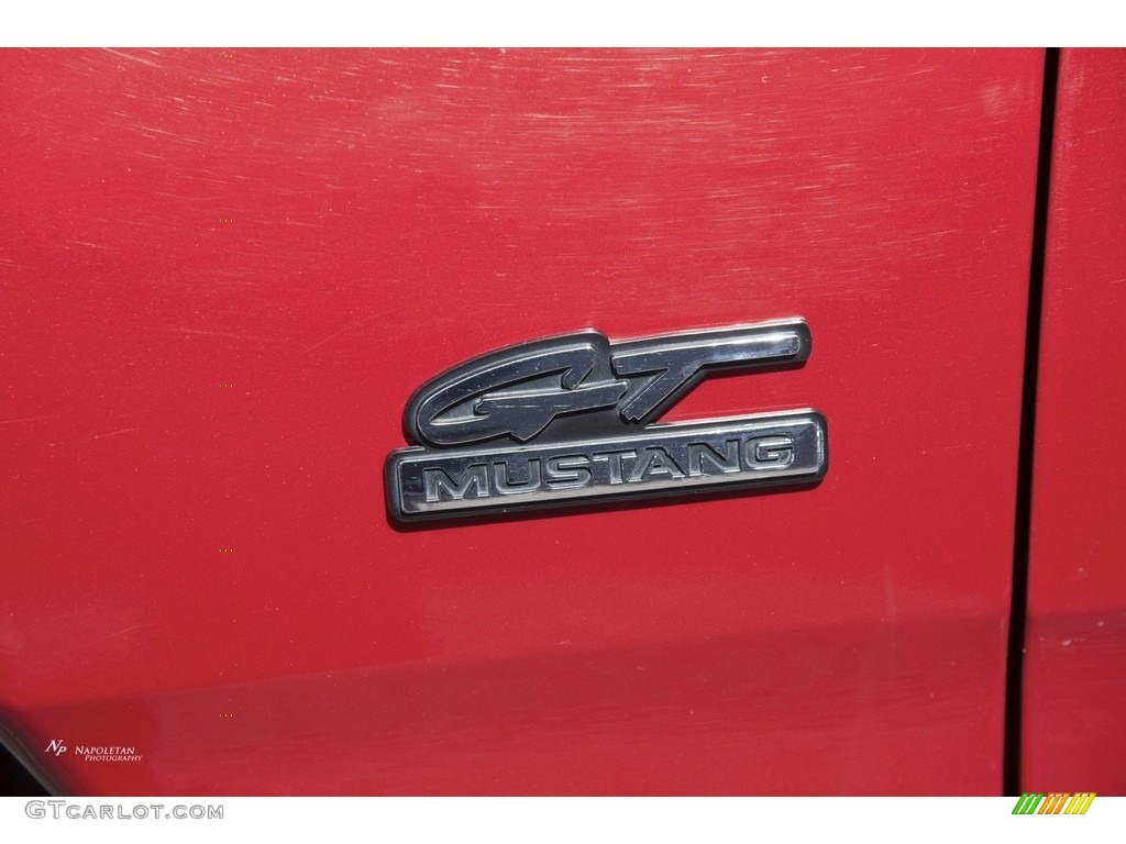 1995 Mustang GT Coupe - Laser Red Metallic / Saddle photo #5