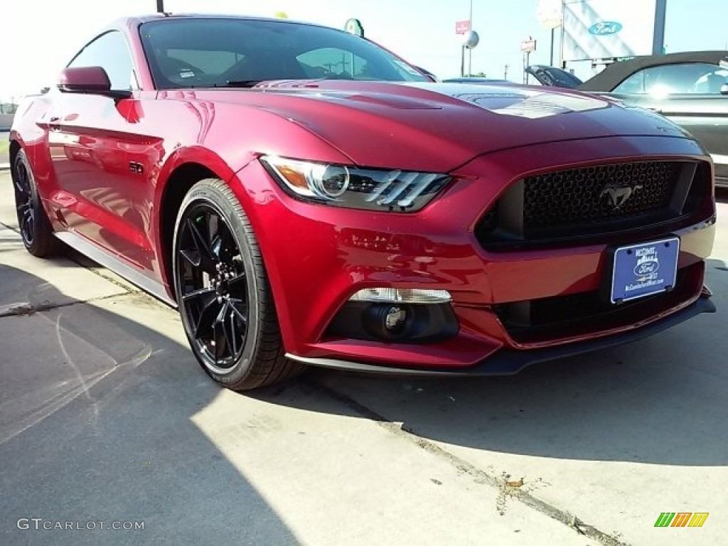 Ruby Red Ford Mustang Gt Premium Coupe