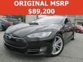 Solid Black 2015 Tesla Model S