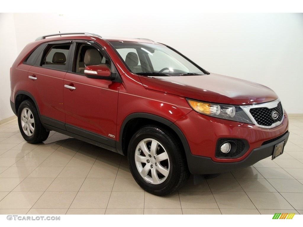 Spicy Red Kia Sorento