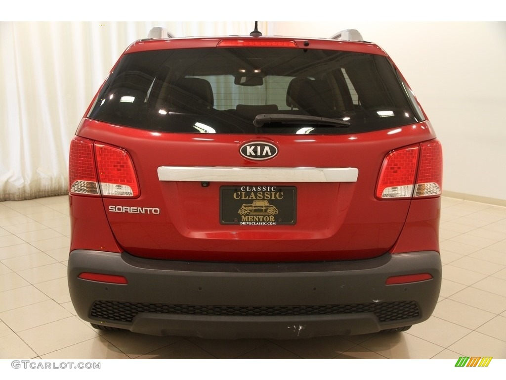 2011 Sorento LX AWD - Spicy Red / Beige photo #15