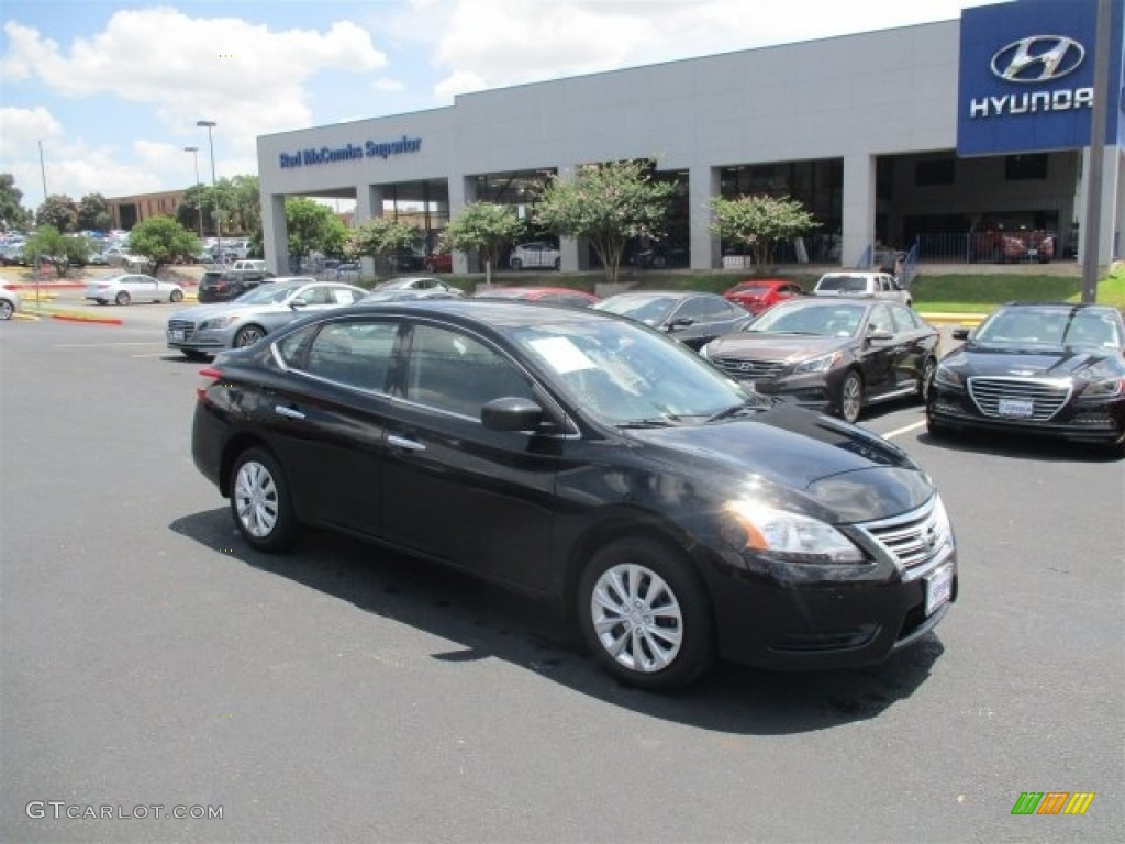 2014 super black nissan sentra sv 114216477 car color galleries. Black Bedroom Furniture Sets. Home Design Ideas